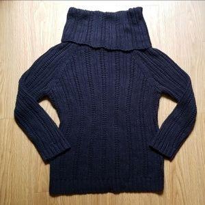 Loft | Black knitted turtleneck sweater